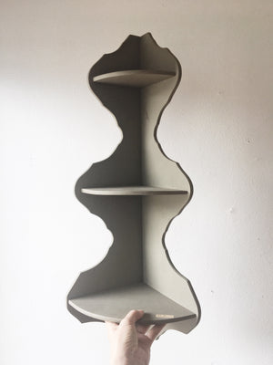 Vintage Gray Corner Shelf