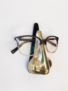 Brass Nose Eyeglass Holder