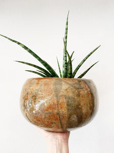 Large Stoneware Pot with Drainage