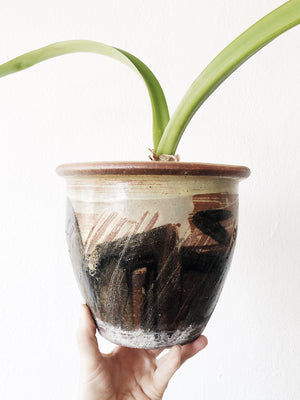 Vintage Handmade Ceramic Pot with Drainage