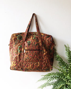 Vintage Quilted Tote
