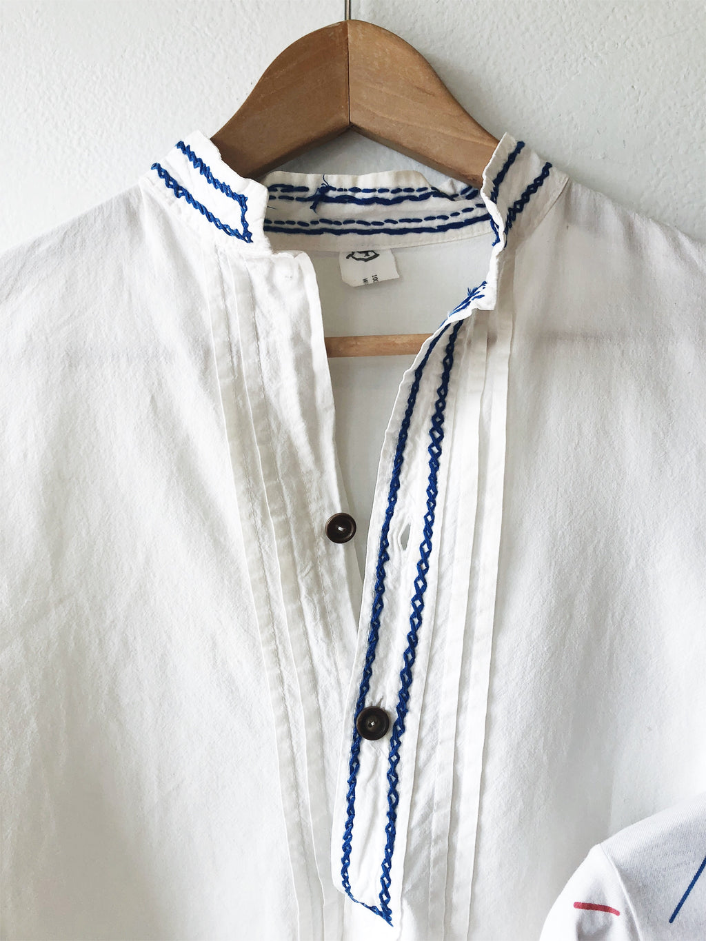 Vintage Cotton Embroidered Blouse