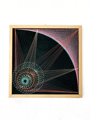 Vintage Original Framed String Art