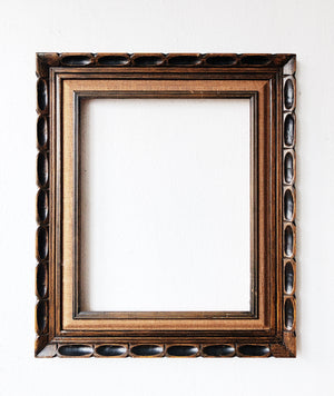 Mid Century Carved Wood Frame