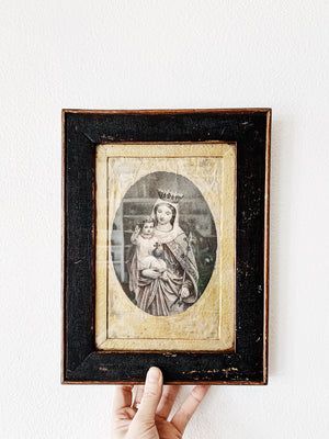 Vintage Framed Mary and Child