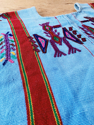 Vintage Embroidered Guatemalan Cropped Tunic