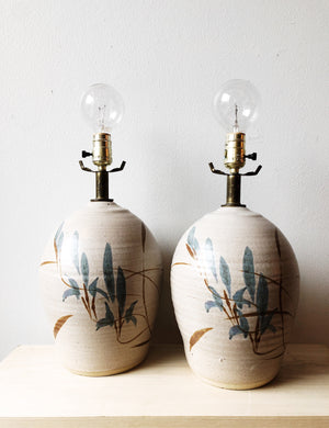 Vintage Ceramic Pottery Lamps