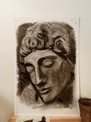 RESERVED Charcoal Portrait