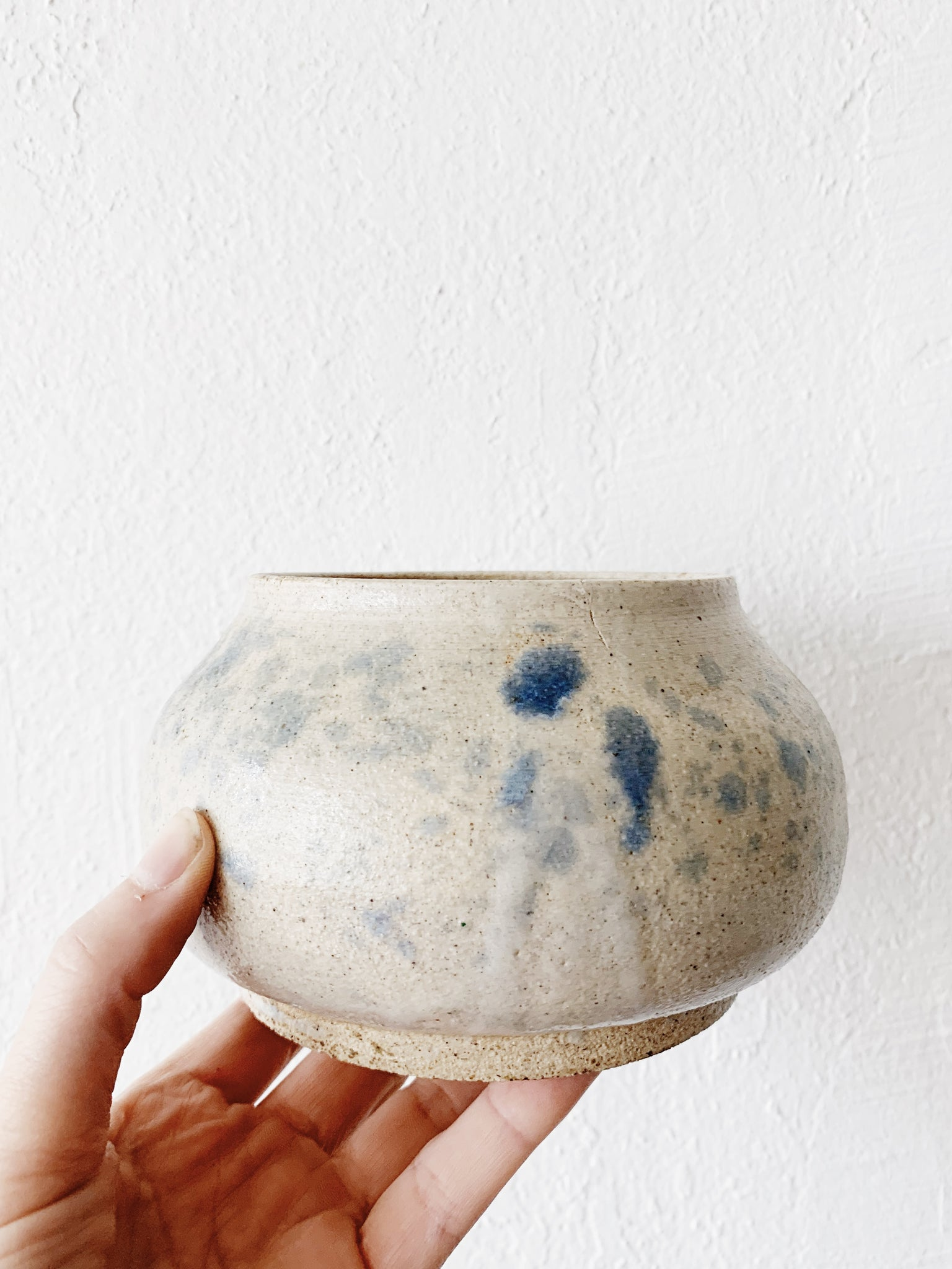 Indigo Flecked Pottery