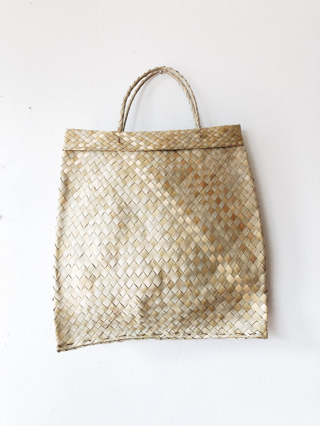 Vintage Straw Envelope Tote Bag