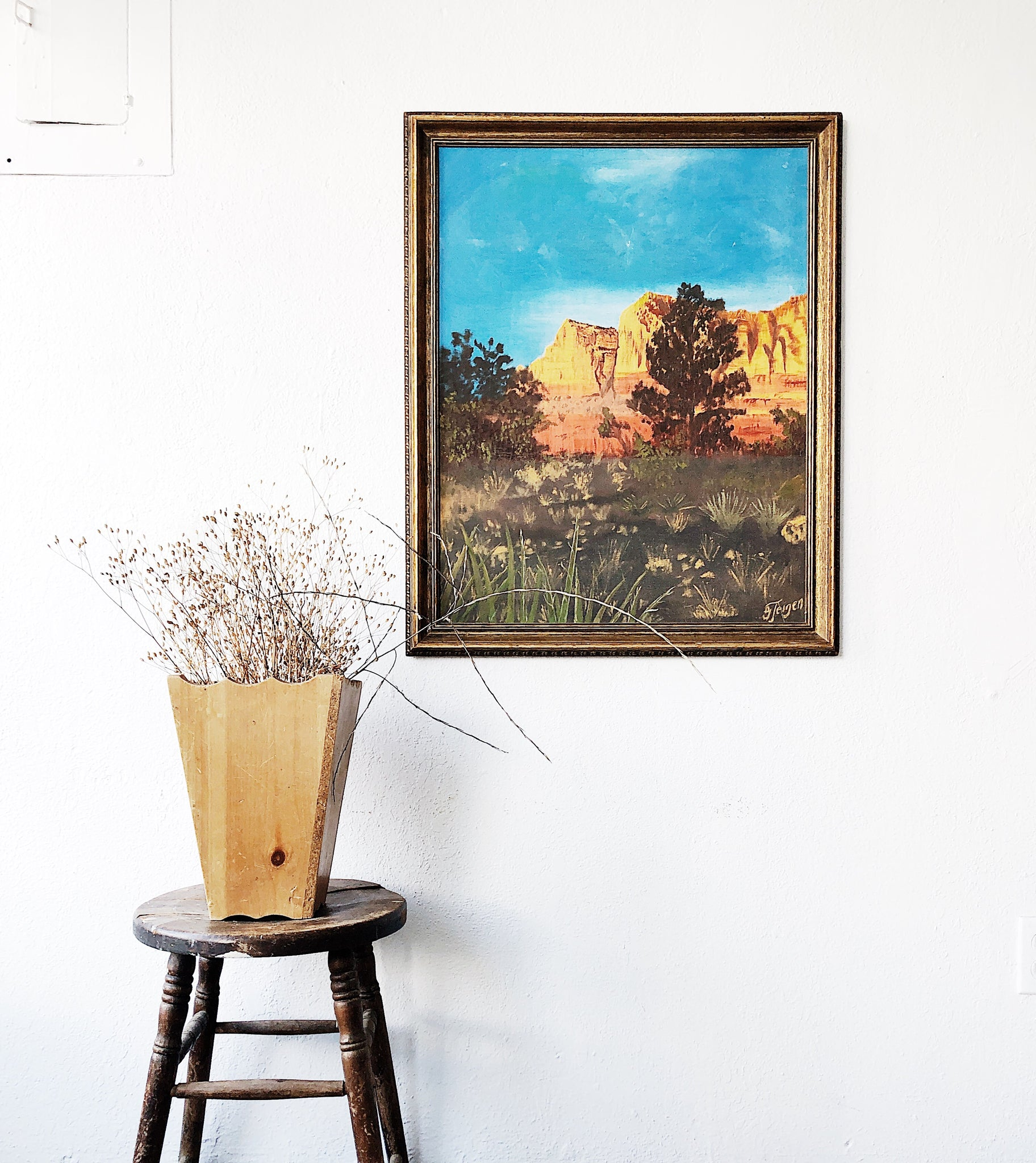 Vintage Large Scale Landscape Painting
