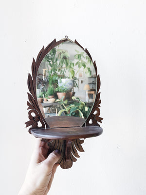 Antique Mirror Shelf