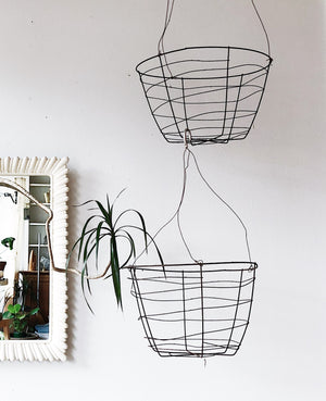 Vintage Wire Planter Basket