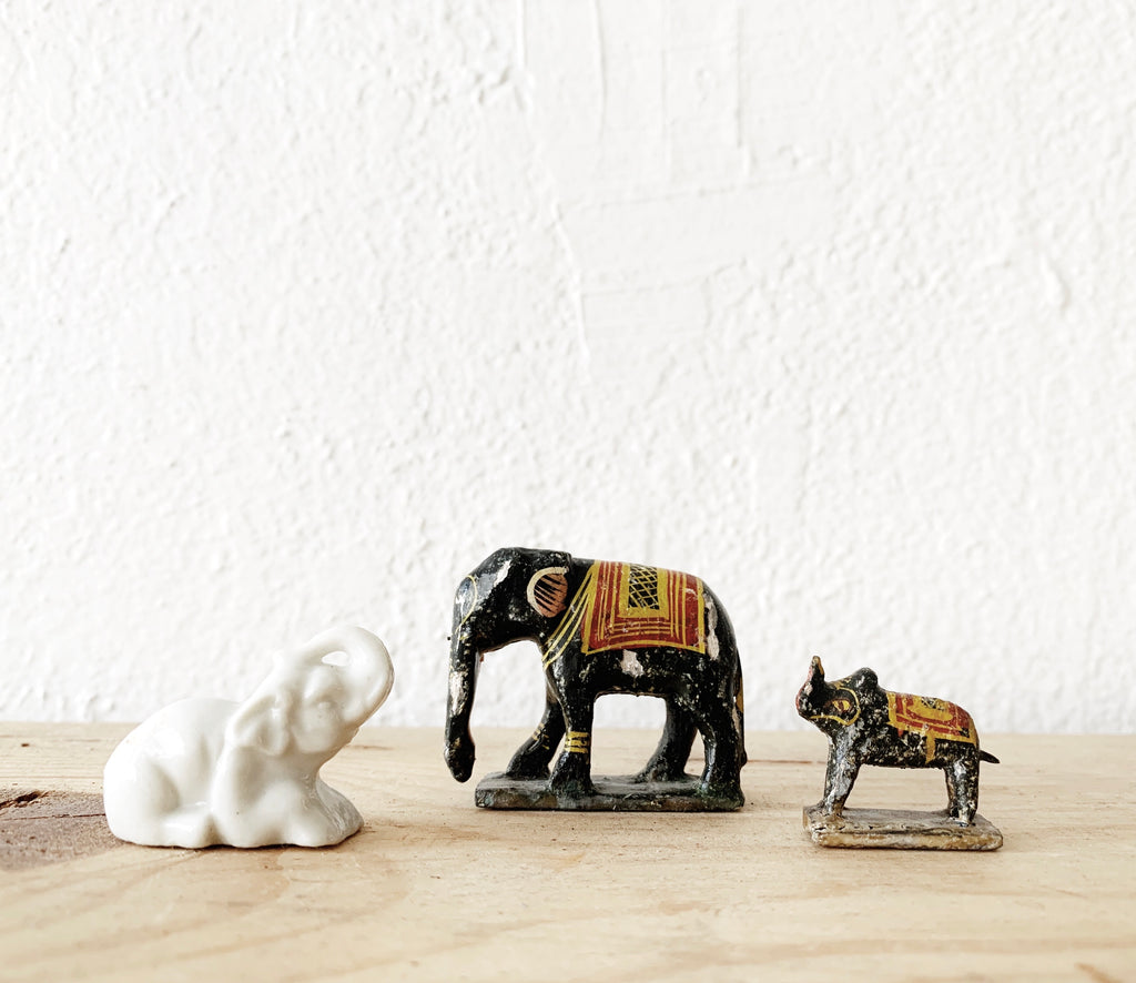 Tiny Vintage Elephant Collection