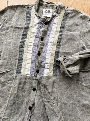 FLAX Linen Button Up