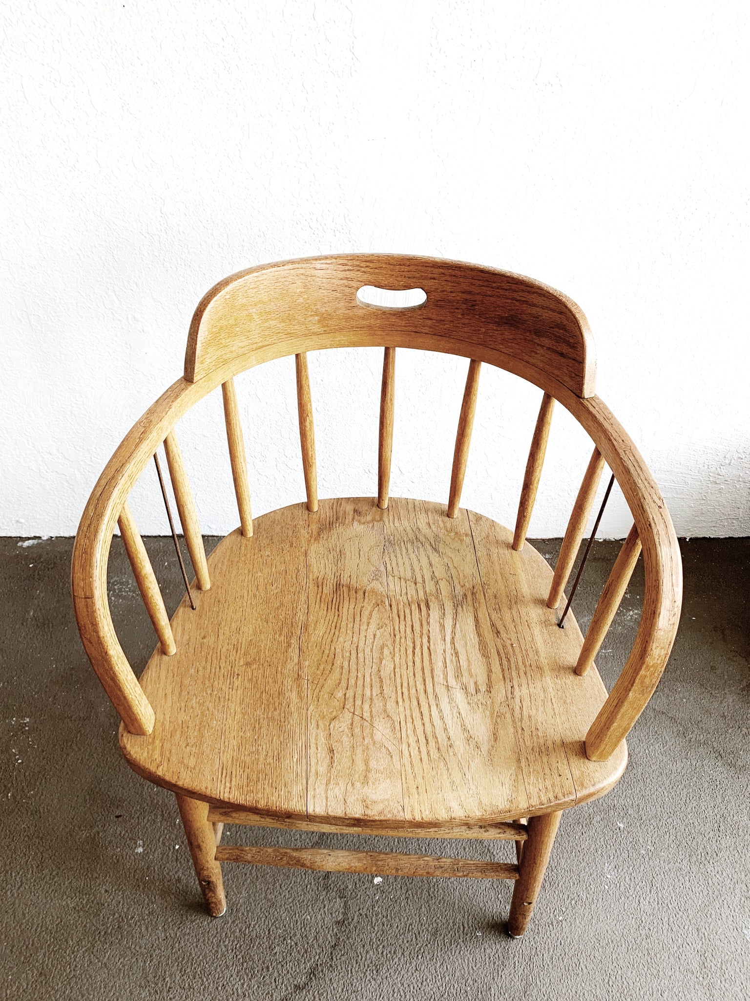 Vintage Smith Bros. Oak Captains Chair