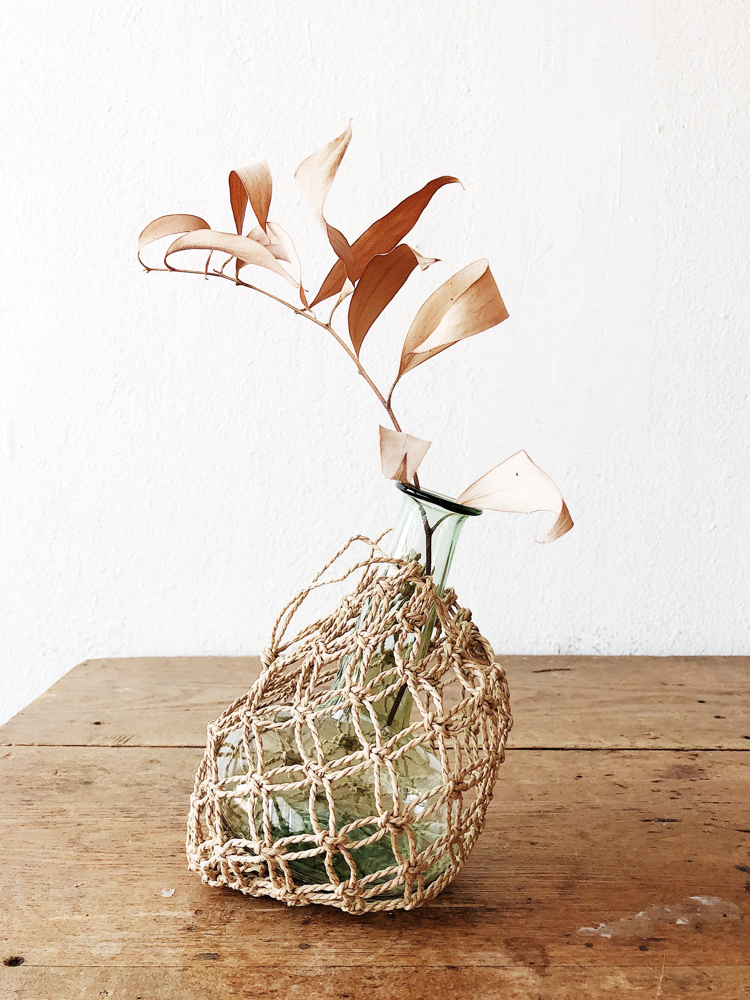 Vintage Netted Wall Vase