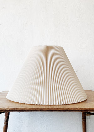Large Vintage Pleated Lamp Shade