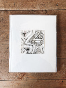 Hand Drawn Marbled Ink Print