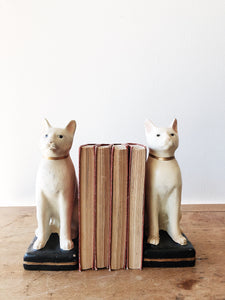 Vintage Ceramic Cat Bookends