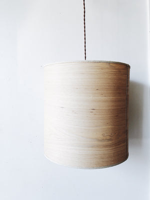 Vintage Wood Veneer Pendant Light