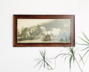 Large Antique Framed Litho