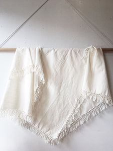 Cotton Tablecloth with Fringe