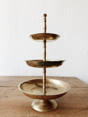Vintage Tiered Brass Stand