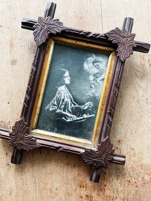 RESERVED KARLA Antique Framed Angel Print