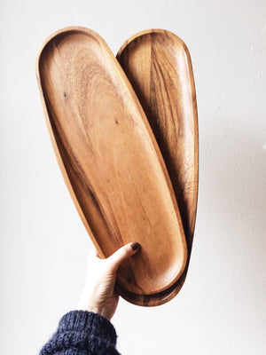 Oblong Wood Platters