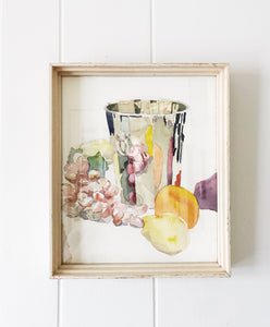 Vintage Watercolor Still Life
