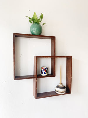 Vintage Wood Wall Shelf