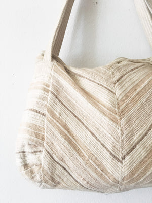 Vintage Cotton Chevron Purse