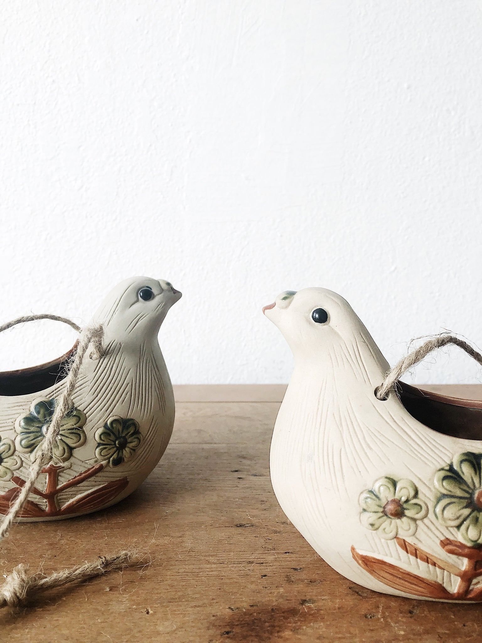 Vintage Pottery Bird Planter
