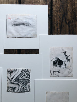 Original Charcoal and Ink Drawings
