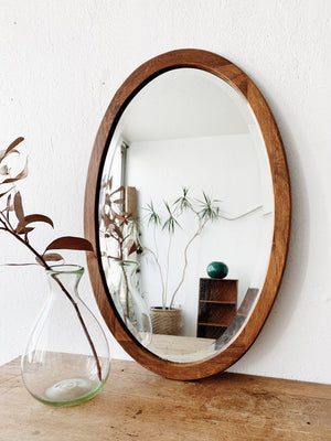 Antique Oval Beveled Mirror