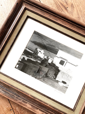 Vintage Framed Black and White Photo