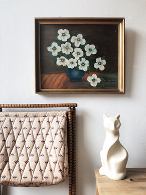 Vintage Dogwood Painting