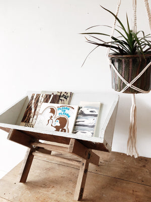 Vintage Table Top Book Shelf