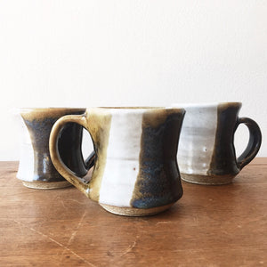 Trio of Vintage Handmade Mugs