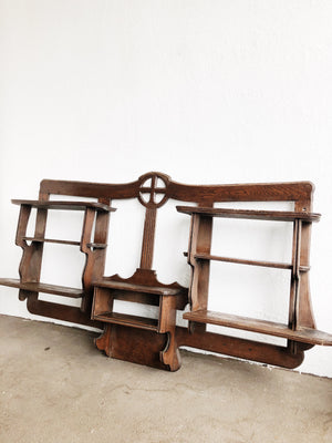 Extra Large Carved Wood Shelf