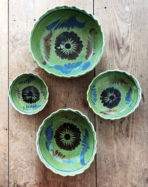 Vintage Nesting Mexican Clay Bowls