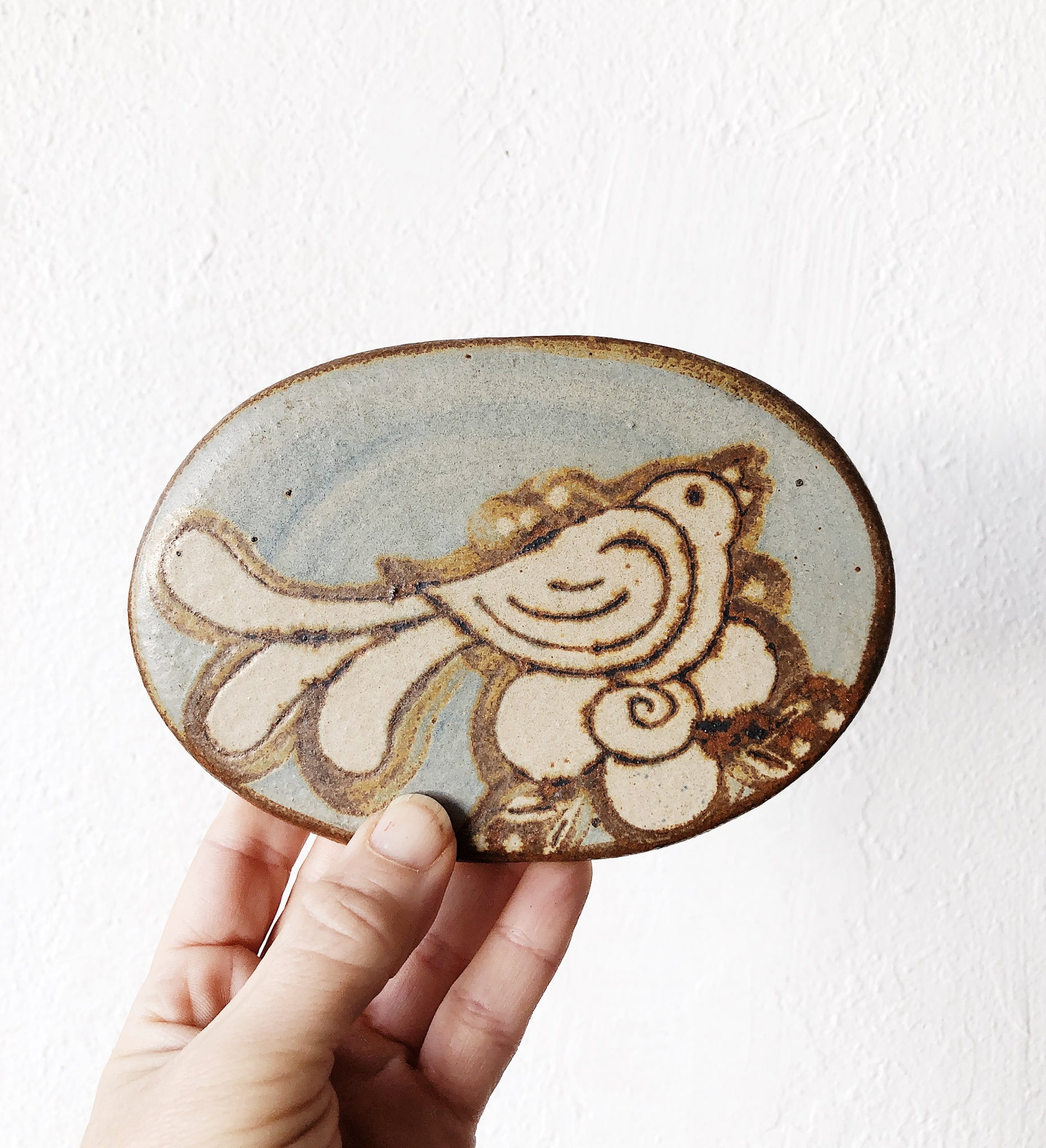 Beautiful Vintage Ceramic Trivet