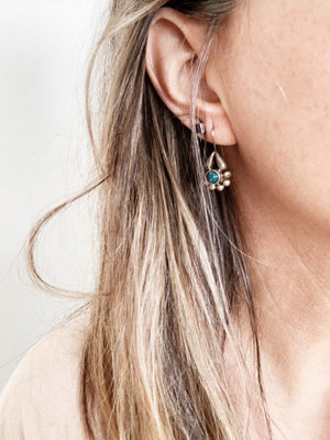 Vintage Sterling Earrings with Turquoise