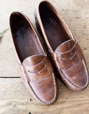 Vintage Leather Loafers Lands End