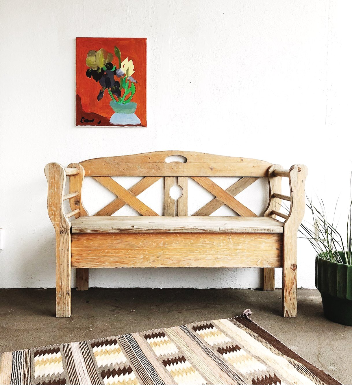 Weathered Wood Bench