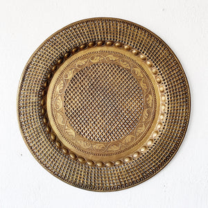 Large Vintage Brass Tray
