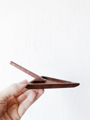 Vintage Teak Arrow Dish