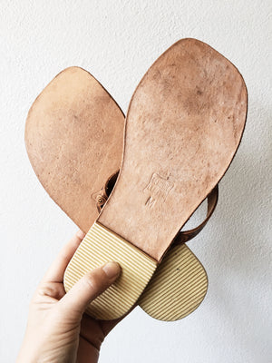 Embossed Leather Sandals