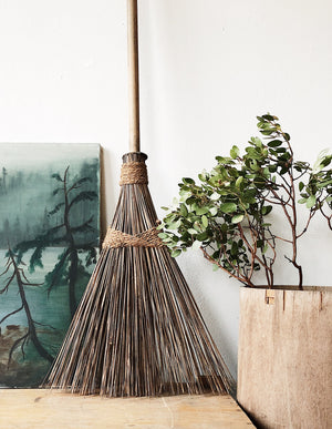 Handmade Bamboo Reed Broom